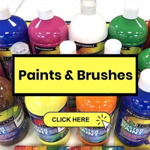 driftwood paint brushes button